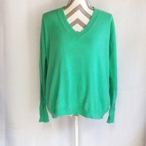 J Crew Italian Cashmere V Neck Sweater